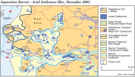 Maps Map Data Settlements Ariel Barrier Nov2003