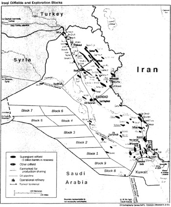 iraq oil map the classic cheney task force